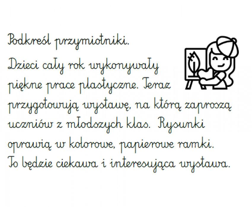 Części mowy - przymiotniki