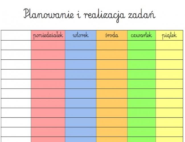 Wizualizacja - planowanie zadań